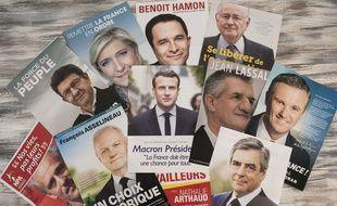 Les professions de foi des 11 candidats à l'élection présidentielle 2017 sont arrivées dans les boîtes aux lettres des Français