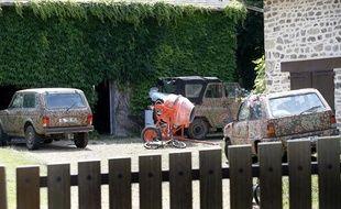 Le jardin de la maison où habitait Varg Vikernes avec sa femme et ses trois enfants, dans le hameau de «Las Fleyras», près de Salon-La-Tour (Corrèze), le 16 juillet 2013