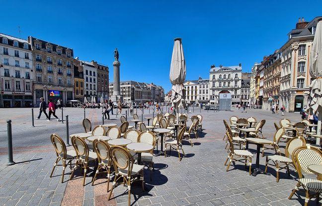 A Lille, certains établissements testent déjà leurs terrasses en mode coronavirus.