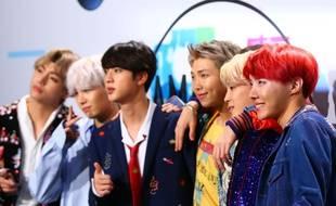 Des membres du groupe de K-pop « BTS », en 2017
