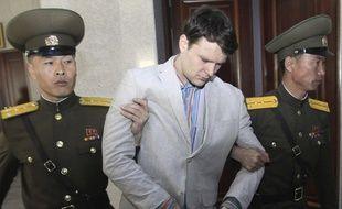 Otto Warmbier au tribunal à Pyongyang, en mars 2016.