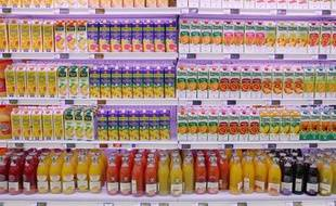 Rayon de jus de fruit frais.