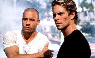 Les acteurs Vin Diesel et Paul Walker dans The Fast and The Furious