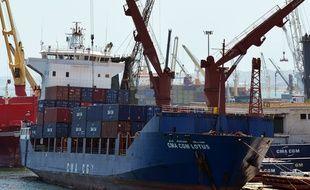 Un cargo maritime à Alger.