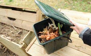 Ces poubelles individuelles servent à recueillir les déchets organiques destinés au compost.