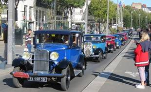 Les véhicules anciens de collection à Nantes le 30 septembre 2018.