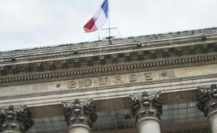 Le Palais Brongniart, le 22 août 2014 à Paris