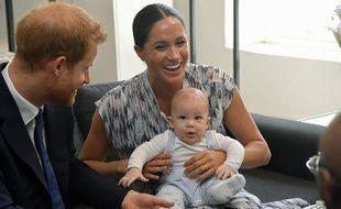Le prince Harry, Meghan Markle et leur fils Archie