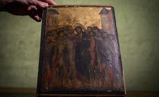«Le Christ moqué» est le thème de ce tableau de petite taille.