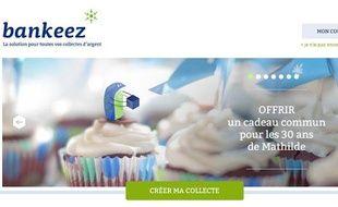 Capture d'écran du site Bankeez.