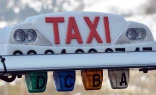 Illustration d'un taxi.