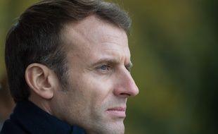 Emmanuel Macron, le 14 novembre 2019 en déplacement dans la Marne, à Dormans.
