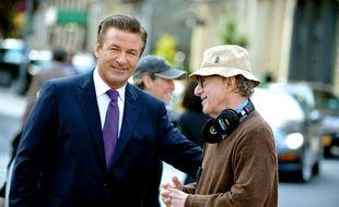 L'acteur Alec Baldwin et le réalisateur Woody Allen sur le tournage de «Blue Jasmine»
