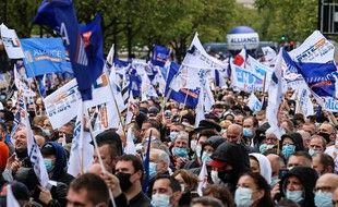 Selon les organisateurs, 35.000 personnes ont assisté au rassemblement citoyen organisé par les syndicats de police ce mercredi