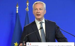 Bruno Le Maire, ministre de l'Economie, le 7 juillet 2020.