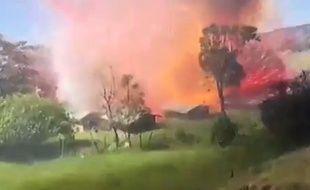 L'explosion d'une usine de feux d'artifice en Colombie, le 4 janvier 2015.