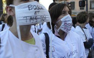 Les infirmiers des Hospices civils de Lyon avaient déjà exprimé leur mal-être lors d'une grève en 2012 (archives). CYRIL VILLEMAIN/20 MINUTES