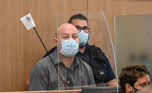 Willy Bardon à l'ouverture de son procès en appel, à Douai le 14 juin 2021.