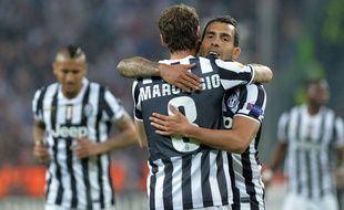 Claudio Marchisio célèbre son but face à Lyon en Europa League, le 10 mars 2014