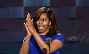 Michelle Obama lors de la convention du parti démocrate, le 25 juillet 2016, à Philadelphie.