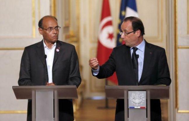 """Le président François Hollande a assuré mardi, lors d'une conférence commune avec son homologue tunisien Moncef Marzouki, que la France allait """"aider"""" la Tunisie à récupérer ses avoirs """"captés"""" par le clan de l'ancien président Ben Ali et qui ne se trouvent """"pas en France""""."""