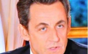 Nicolas Sarkozy, lors de son intervention télévisée, le 16 novembre 2010.