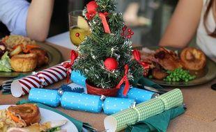 Un repas de Noël.