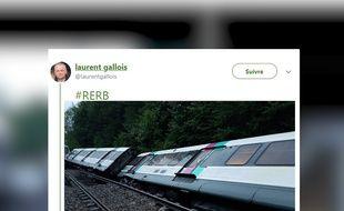 Sept personnes ont été blessées mardi dans l'accident d'un RER en Ile-de-France