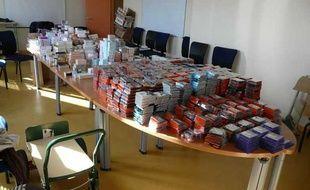 Les policiers ont saisi le 30 septembre 2012 des marchandises volées par un réseau qui favorisait l'entrée en France de ressortissants mongols en situation irrégulière