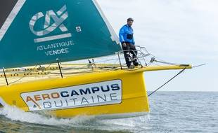 Le skipper Arnaud Boissières a déja participé deux fois au Vendée Globe.