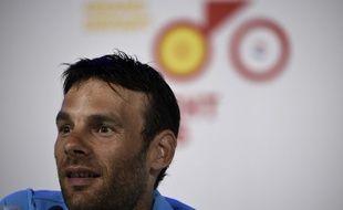 Jean-Christophe Péraud en conférence de presse avant le Tour de France, le 2 juillet.
