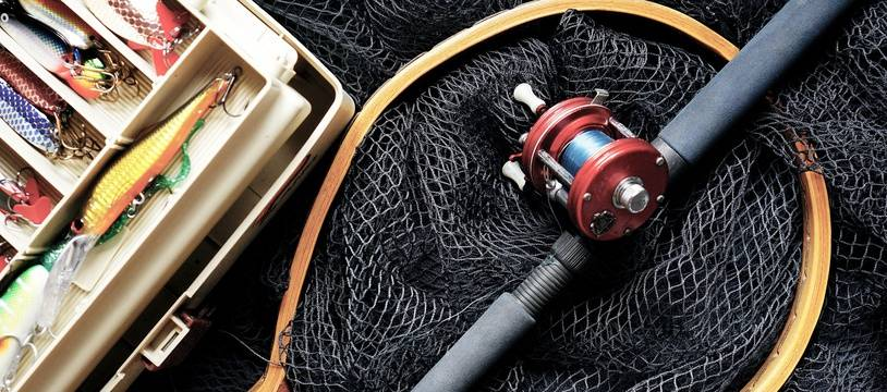 Instruments de pêche. Illustration.