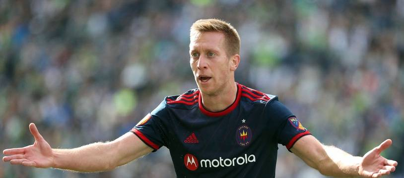 Robert Beric, ici en mars 2020 avec Chicago Fire en MLS.