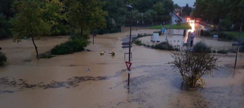 Les inondations en cours à Béziers ce mercredi matin