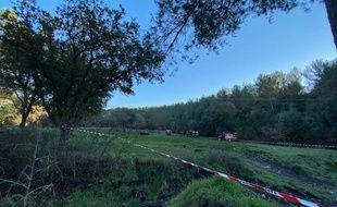 C'est dans ce champ que Porto est tombé dans un trou formé au dessus d'une ancienne mine, à Gardanne.