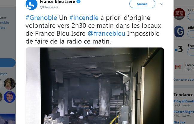 Grenoble: Les locaux de la radio France Bleu Isère ont été incendiés