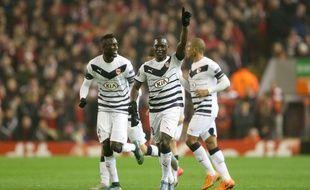 Les Girondins de Saivet et Sané, lors de leur défaite (1-2) à Liverpool, le 26 novembre 2015.