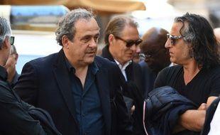 Michel Platini lors des obsèques d'Henri Michel, en avril dernier.