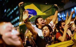 Manifestants dans les rues de Rio, au Brésil, le 17 juin2013.
