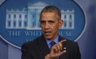 Le président Barack Obama, le 18 décembre 2016 lors d'une conférence de presse à Washington