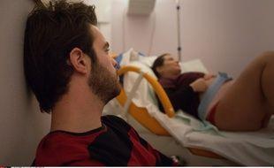 Préparation à un accouchement a la maison de naissance arc en ciel de la Polyclinique Bordeaux Rive Droite de Lormont le 23 décembre 2013.