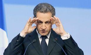 Nicolas Sarkozy au meeting de lancement de la campagne du parti Les Républicains pour les régionales, à Nogent-sur-Marne, le 27 septembre 2015.