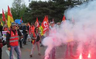 La manifestation contre la loi Travail avait rassemblé environ 1.200 personnes le 2 juin à Rennes.