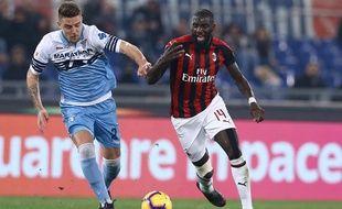 Tiémoué Bakayoko lors d'un match Milan AC-Lazio, le 26 février 2019.