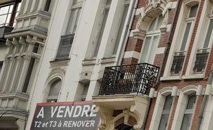 Illustration vente immobilier à Lille, le 18 septembre 2013.