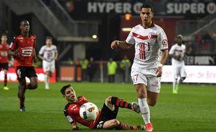 Le Lillois Anwar El Ghazi lors de Rennes-Lille, le 8 décembre 2016.