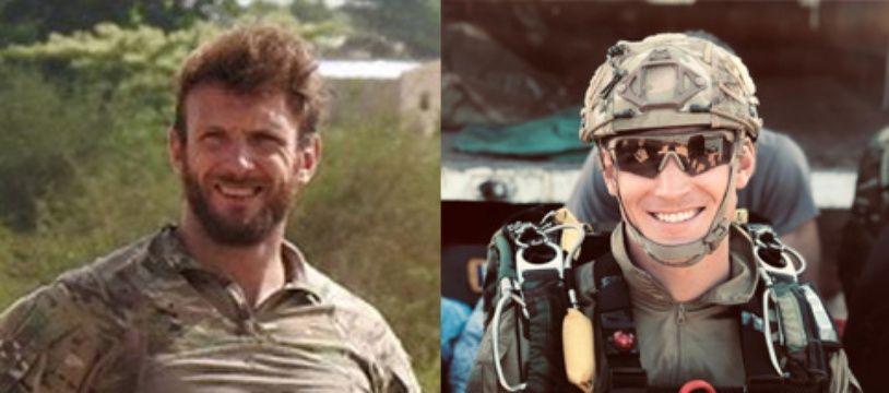 Les deux militaires, Maître de Pierrepont, à gauche, et Maître Bertoncello, à droite, tués en opération lors de la libération de quatre otages au Burkina Faso.