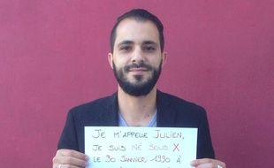 Julien Chaumet, né sous X, a lancé un appel pour retrouver sa mère sur Facebook.