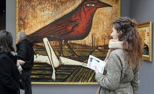 L'Oiseau Rouge de Bernard Buffet au Grand palais à Paris en 2013.