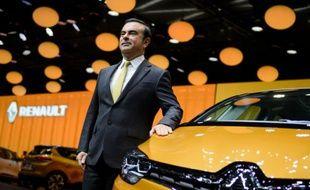 Le PDG du groupe Renault, Carlos Ghosn, le 1er mars 2016 à Genève